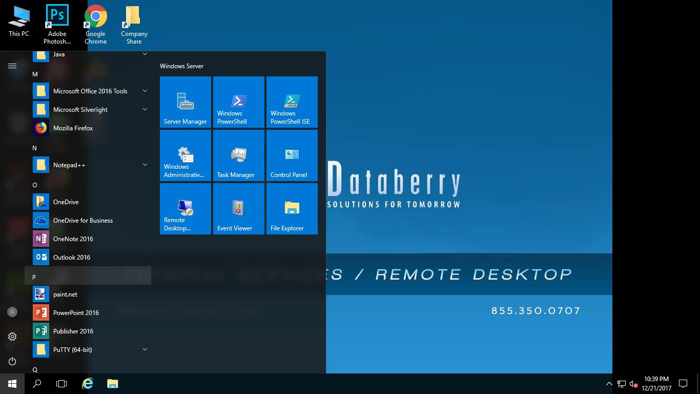 Databerry RDS  Desktop  Menu