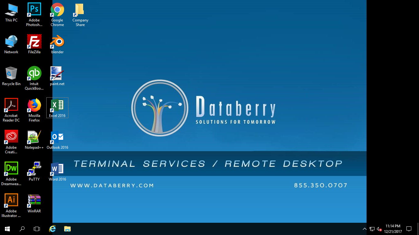 Databerry RDS  Desktop