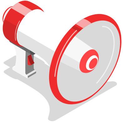 megaphone isometric