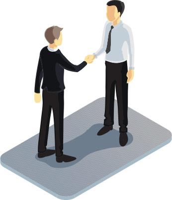 vendor partners handshake